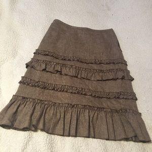 Anne Taylor LOFT Size 4 Wool & Rayon Midi Skirt